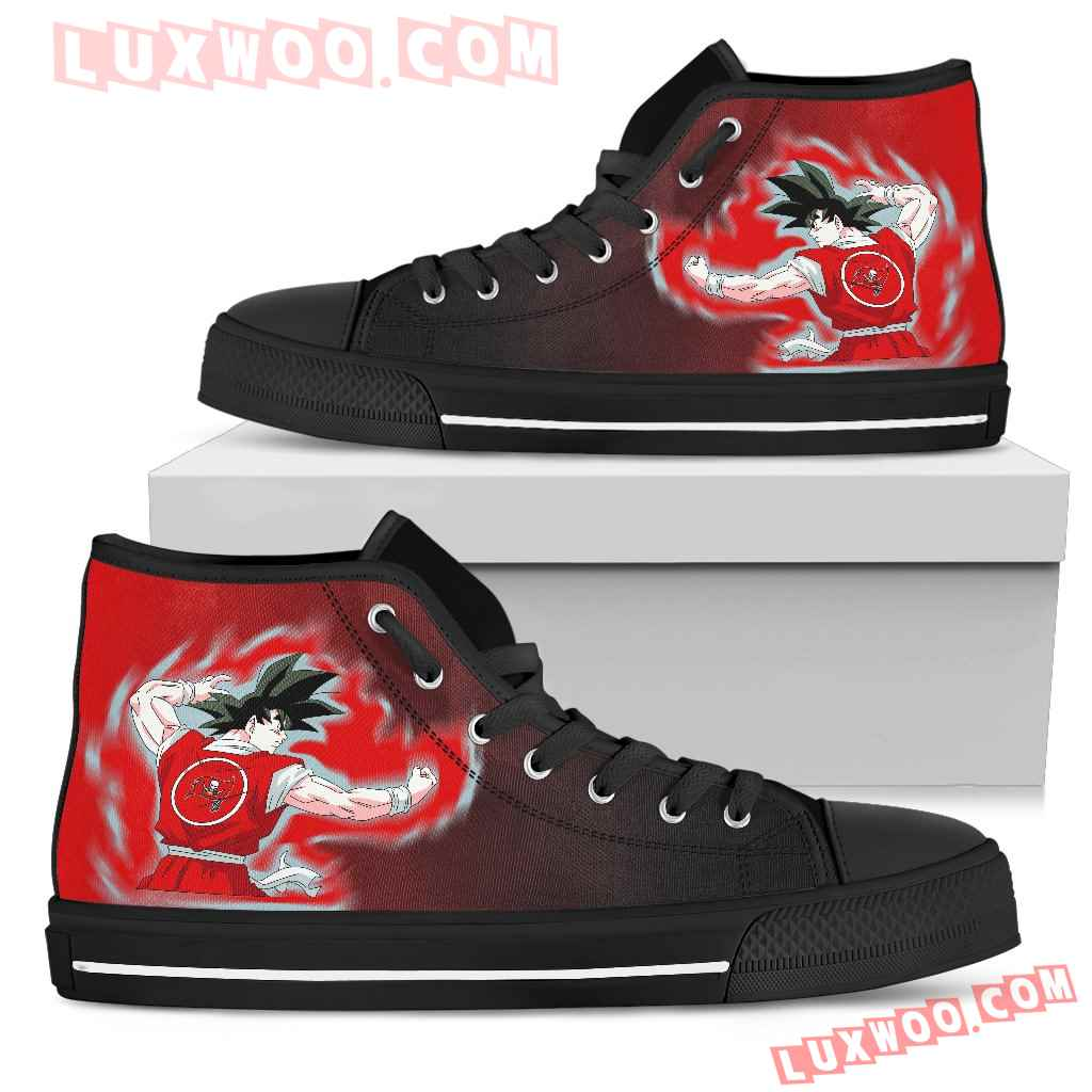 Son Goku Saiyan Power Tampa Bay Buccaneers High Top Shoes