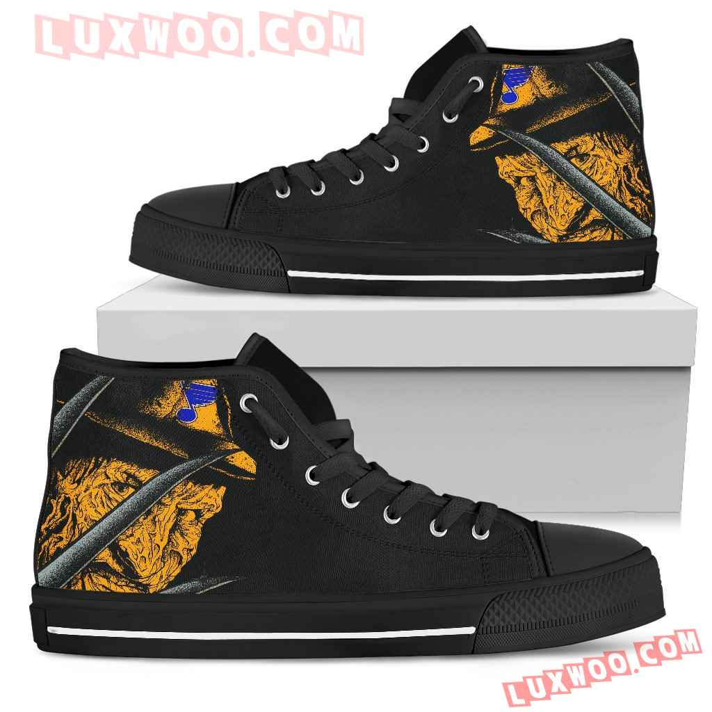 St Louis Blues Nightmare Freddy Colorful High Top Shoes