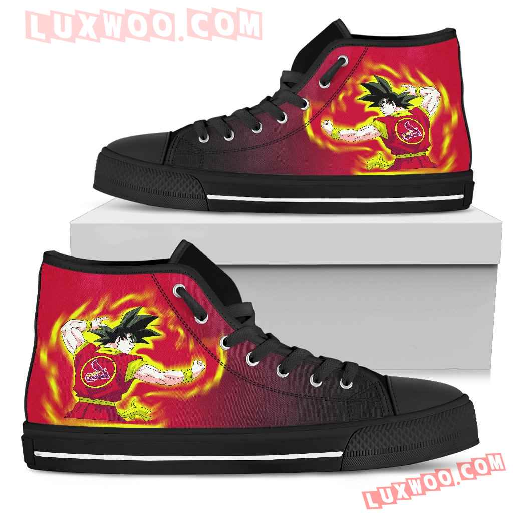 St Louis Cardinals Goku Saiyan Power High Top Shoes