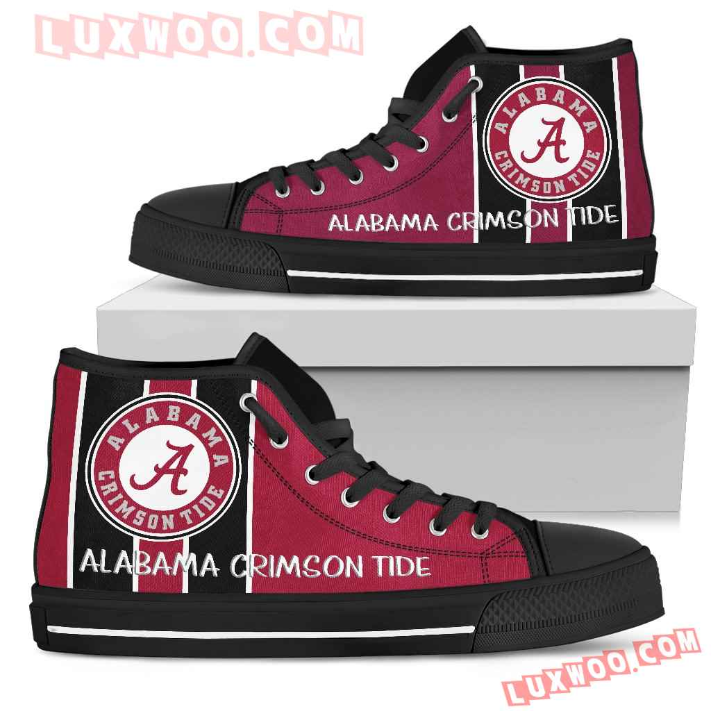 Steaky Trending Fashion Sporty Alabama Crimson Tide High Top Shoes