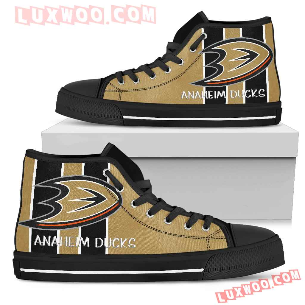 Steaky Trending Fashion Sporty Anaheim Ducks High Top Shoes