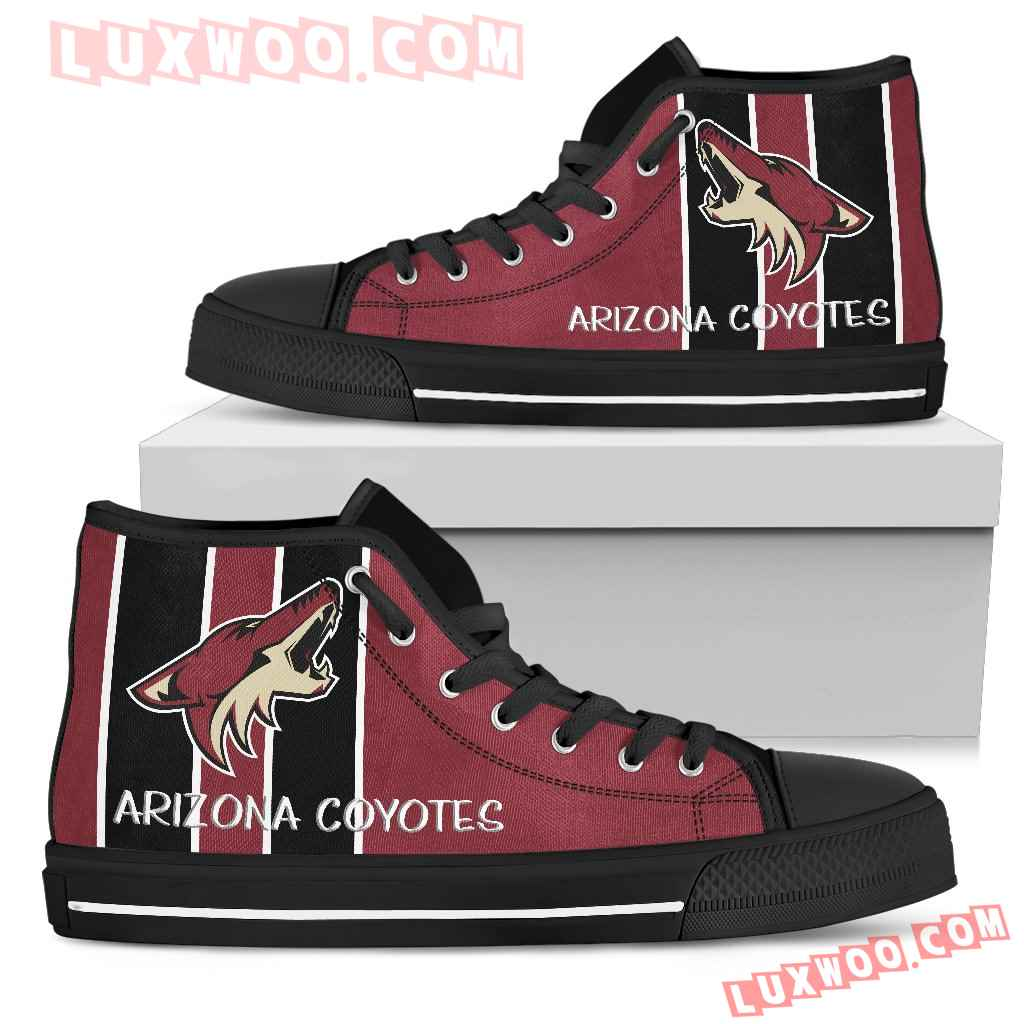 Steaky Trending Fashion Sporty Arizona Coyotes High Top Shoes