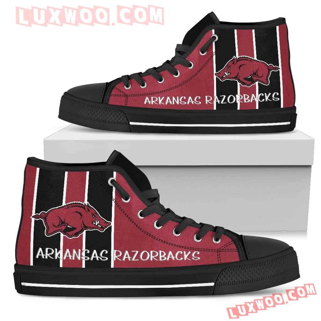 Steaky Trending Fashion Sporty Arkansas Razorbacks High Top Shoes