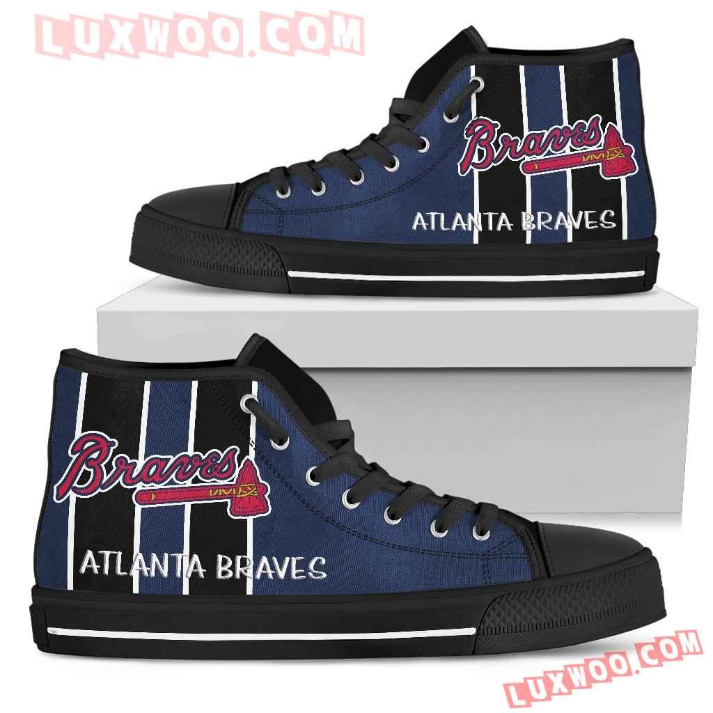 Steaky Trending Fashion Sporty Atlanta Braves High Top Shoes