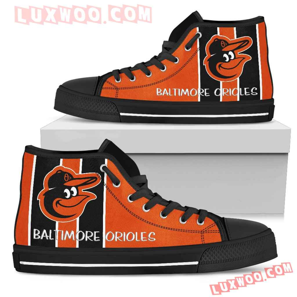 Steaky Trending Fashion Sporty Baltimore Orioles High Top Shoes