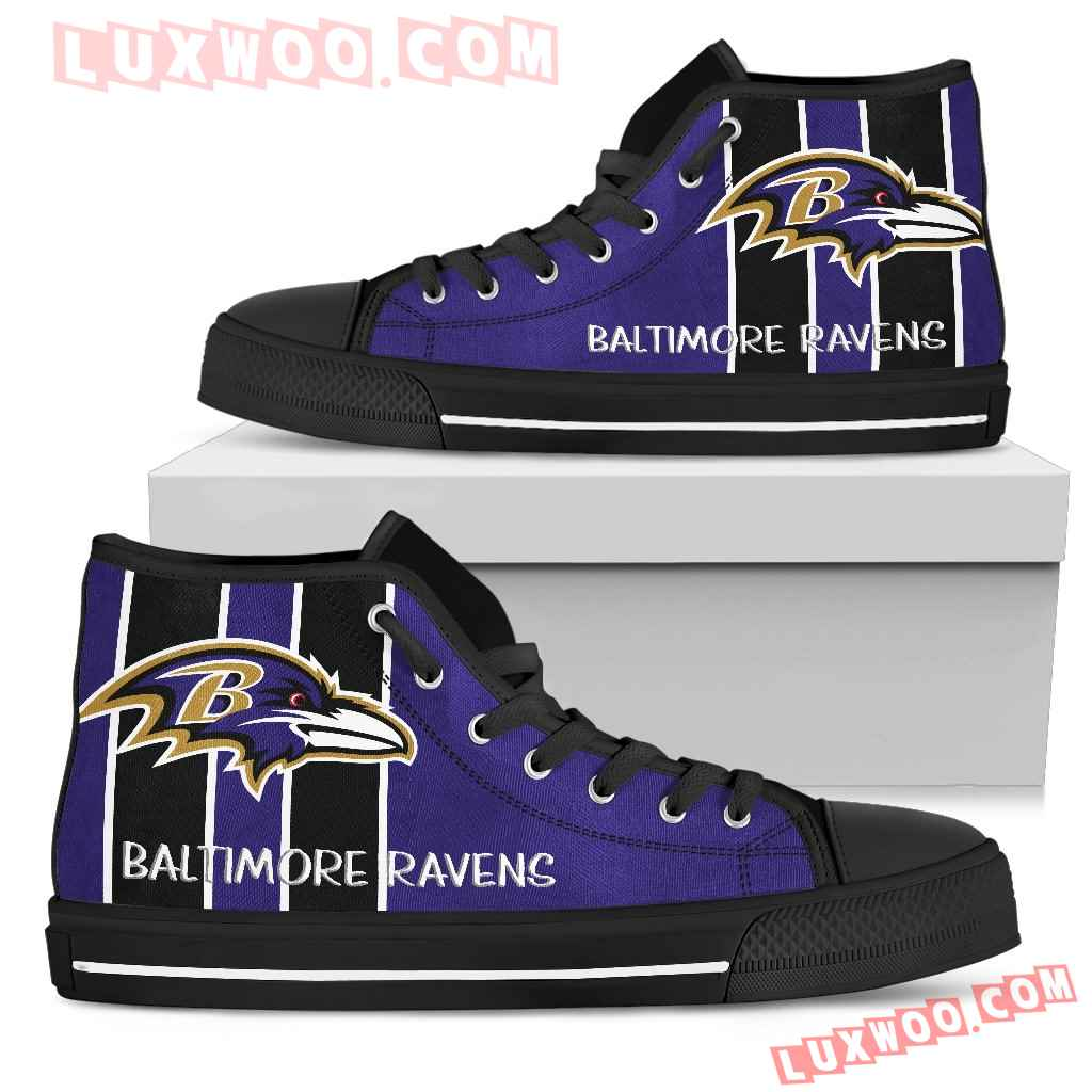 Steaky Trending Fashion Sporty Baltimore Ravens High Top Shoes