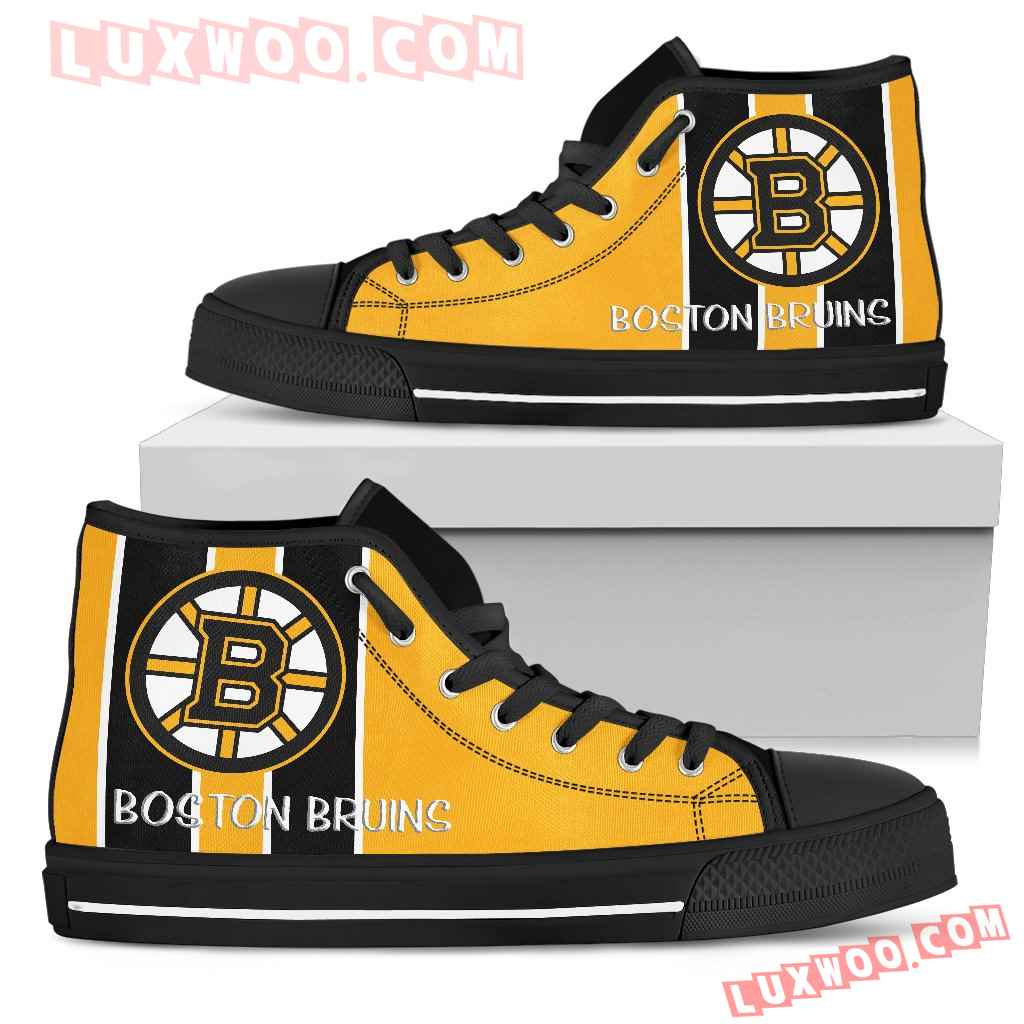 Steaky Trending Fashion Sporty Boston Bruins High Top Shoes