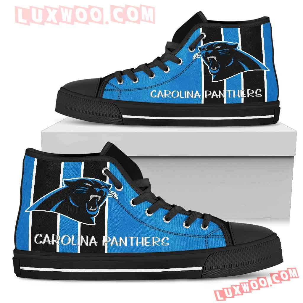 Steaky Trending Fashion Sporty Carolina Panthers High Top Shoes