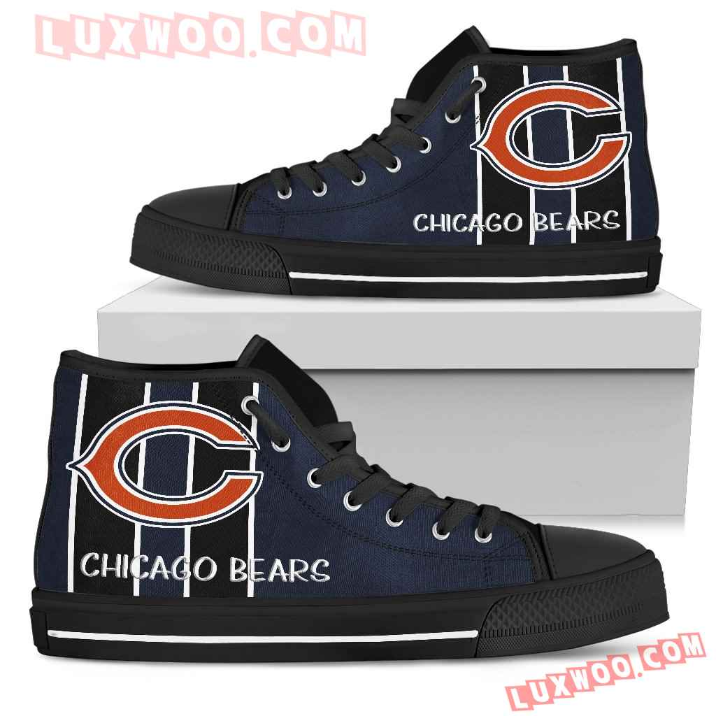 Steaky Trending Fashion Sporty Chicago Bears High Top Shoes