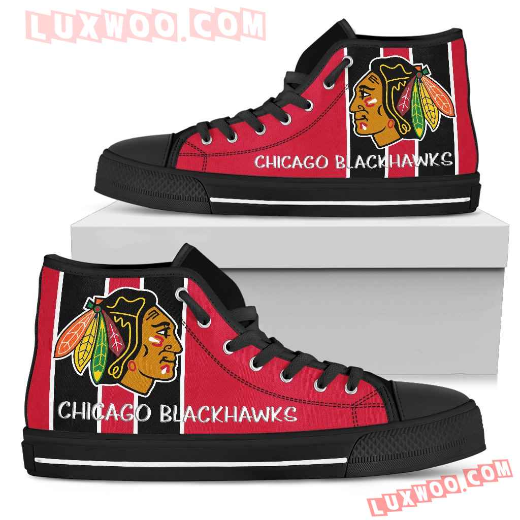 Steaky Trending Fashion Sporty Chicago Blackhawks High Top Shoes