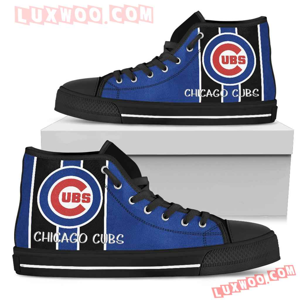 Steaky Trending Fashion Sporty Chicago Cubs High Top Shoes