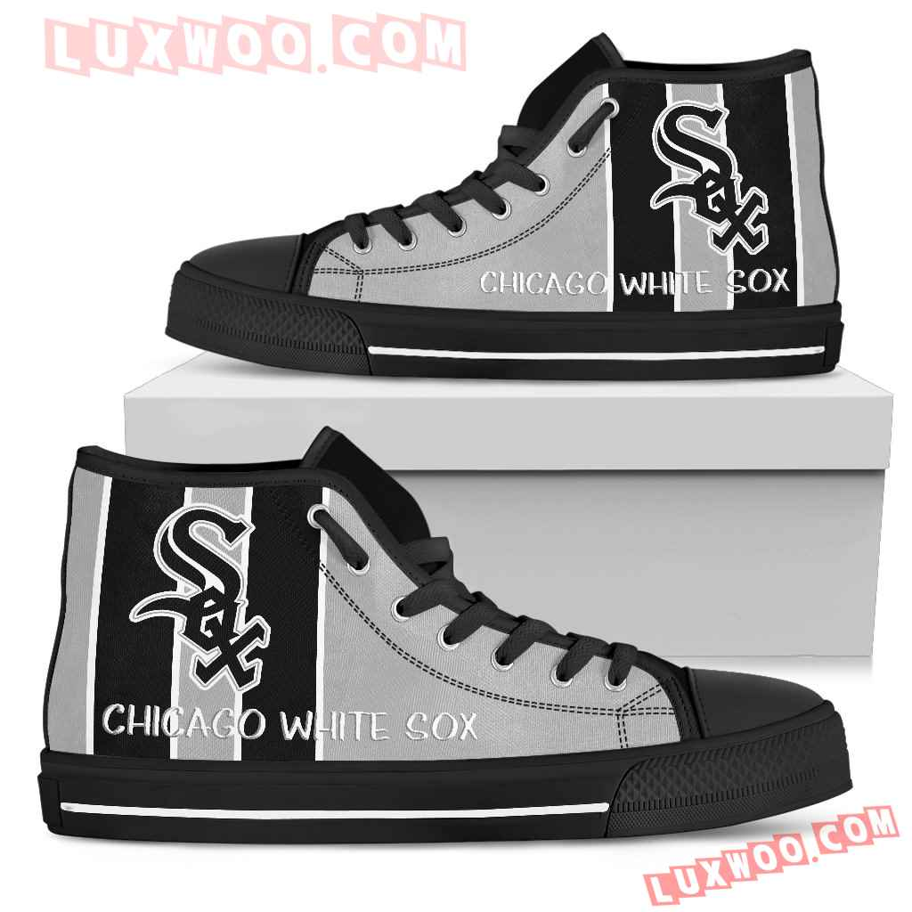 Steaky Trending Fashion Sporty Chicago White Sox High Top Shoes