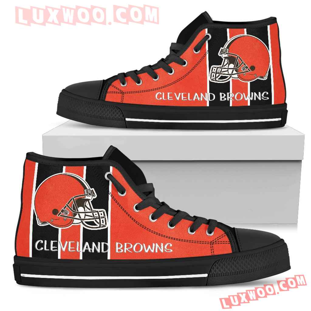 Steaky Trending Fashion Sporty Cleveland Browns High Top Shoes