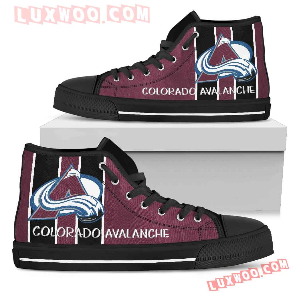 Steaky Trending Fashion Sporty Colorado Avalanche High Top Shoes