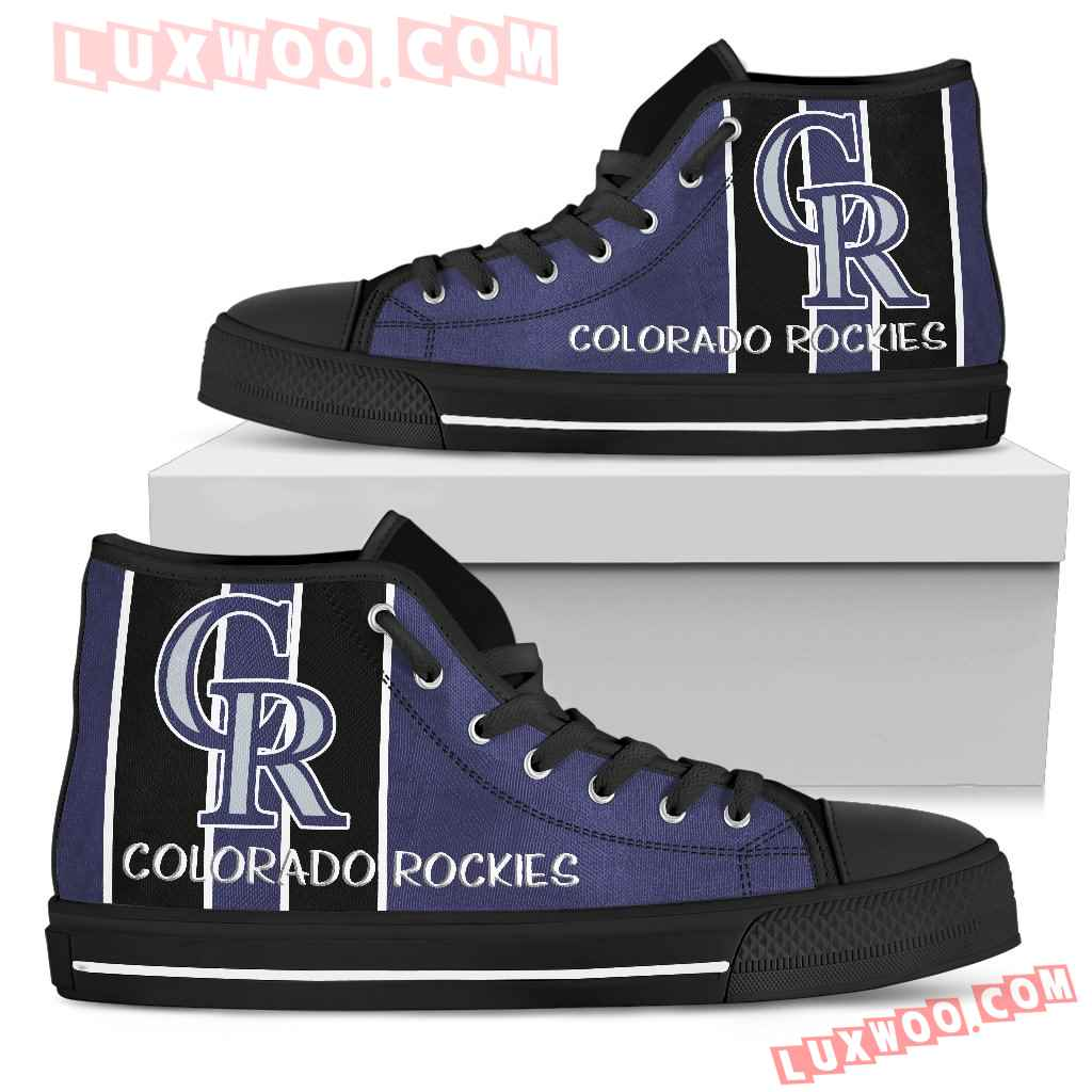 Steaky Trending Fashion Sporty Colorado Rockies High Top Shoes