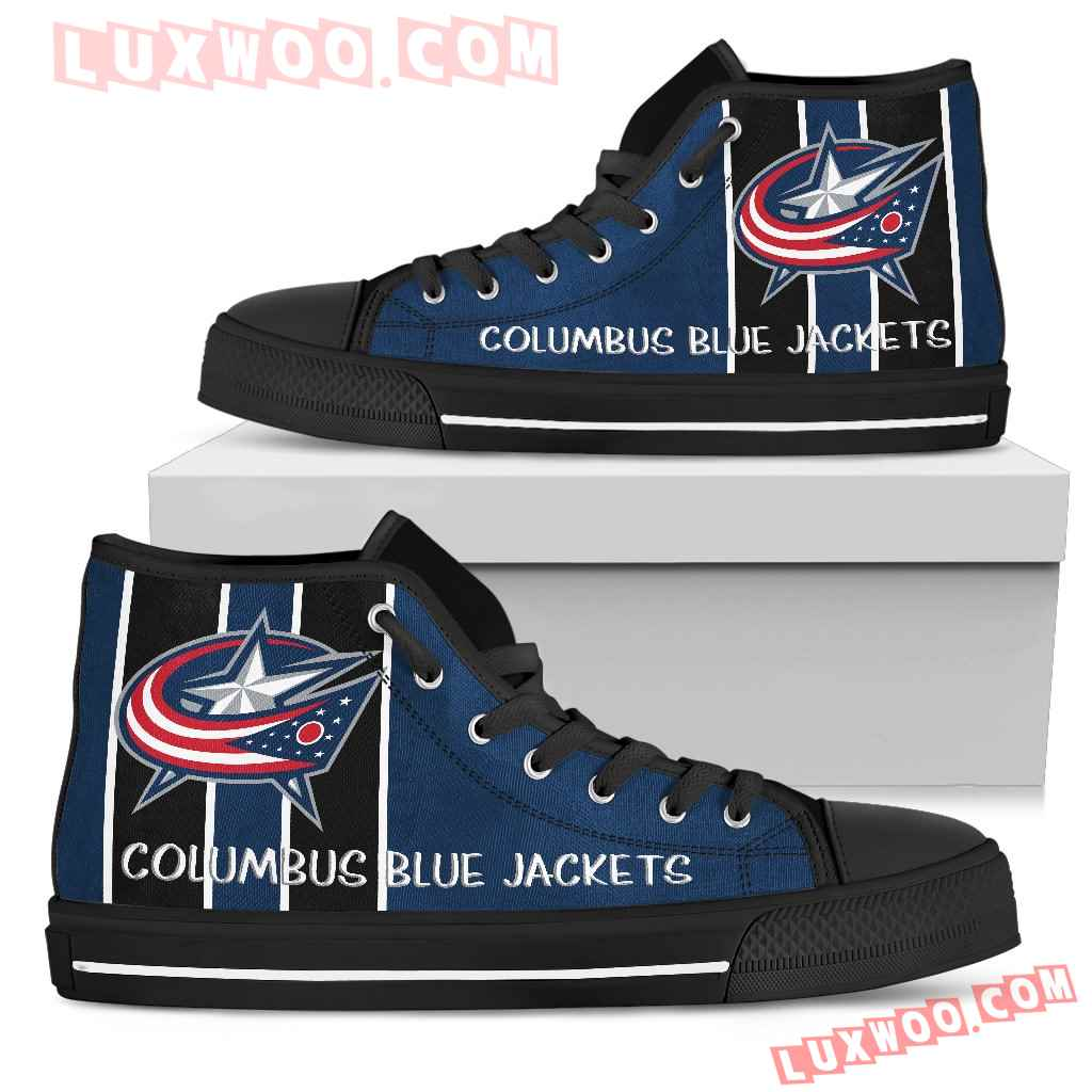 Steaky Trending Fashion Sporty Columbus Blue Jackets High Top Shoes