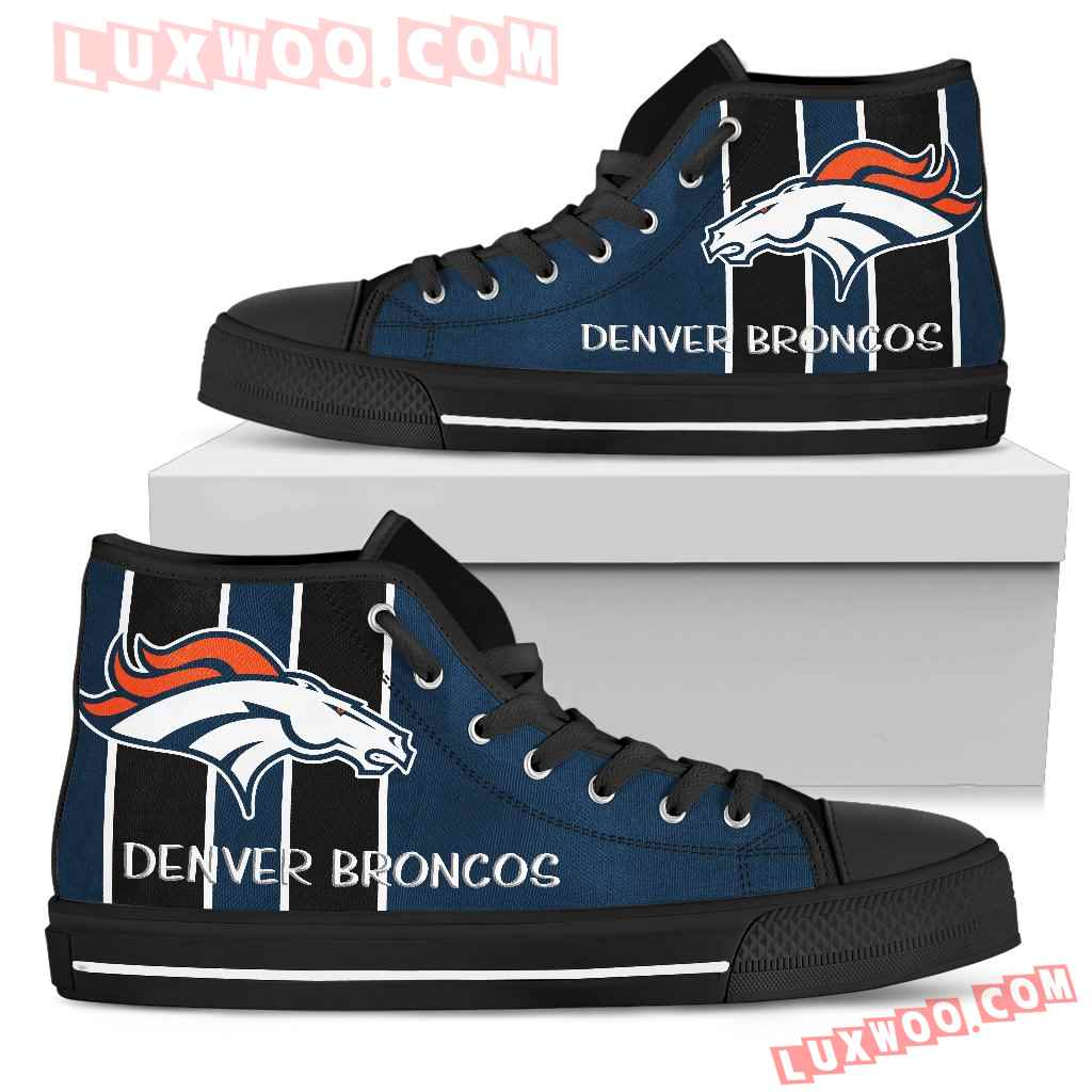 Steaky Trending Fashion Sporty Denver Broncos High Top Shoes