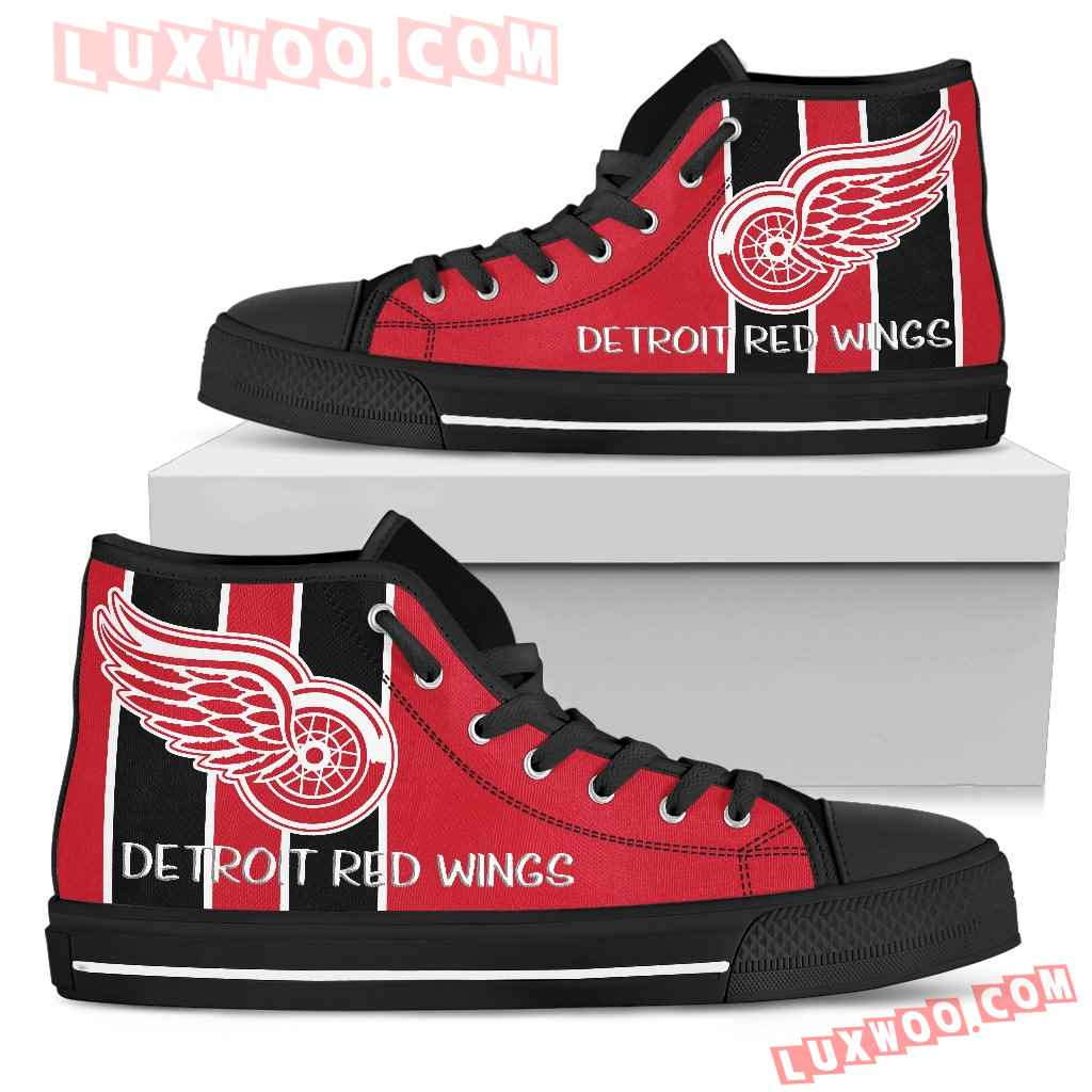 Steaky Trending Fashion Sporty Detroit Red Wings High Top Shoes