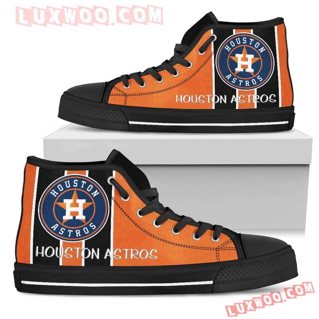 Steaky Trending Fashion Sporty Houston Astros High Top Shoes