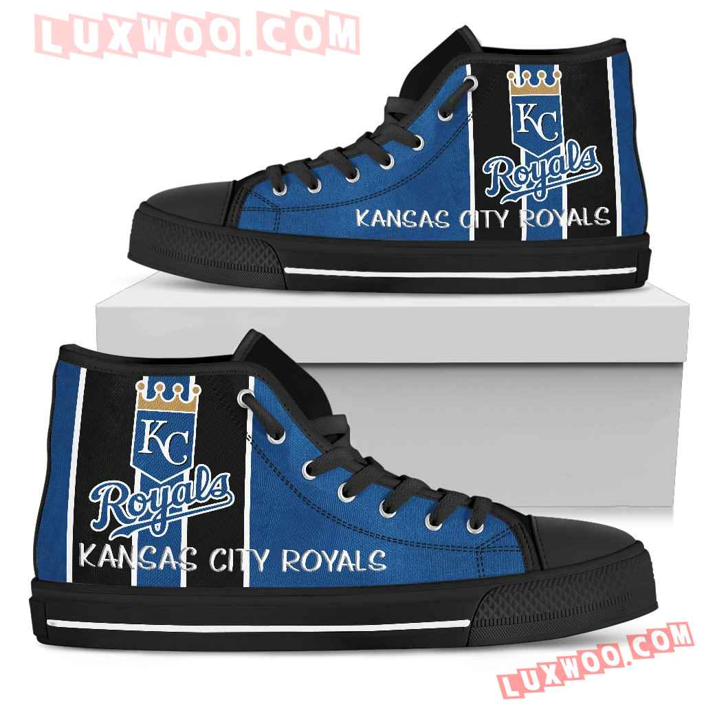 Steaky Trending Fashion Sporty Kansas City Royals High Top Shoes