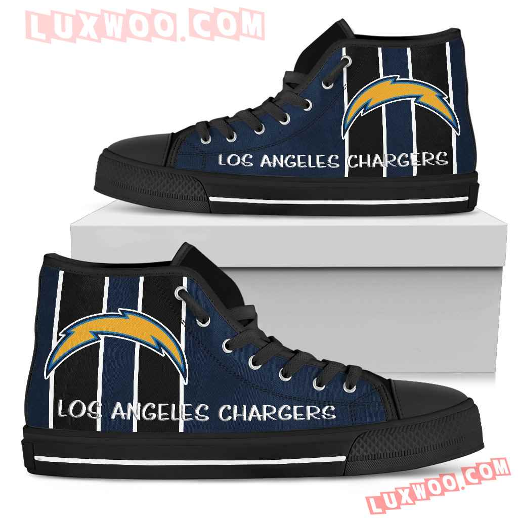 Steaky Trending Fashion Sporty Los Angeles Chargers High Top Shoes