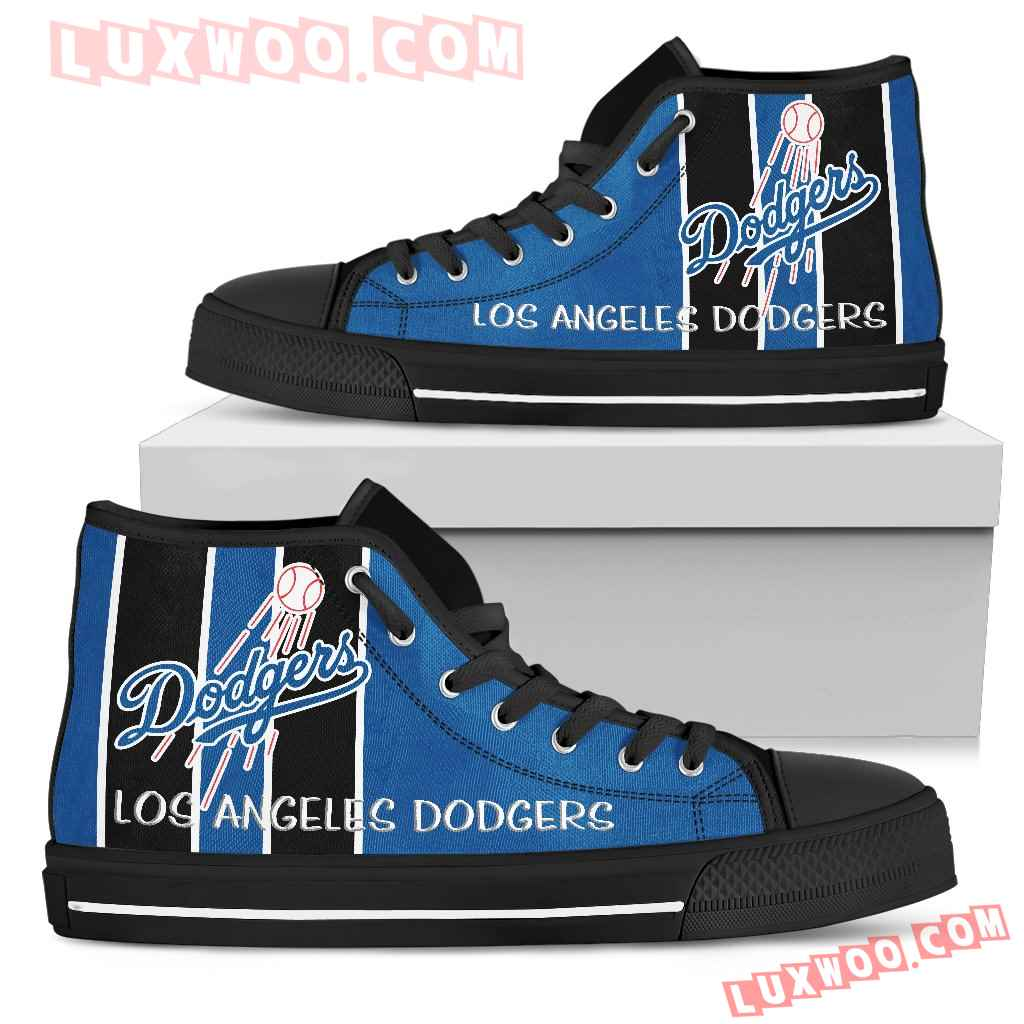 Steaky Trending Fashion Sporty Los Angeles Dodgers High Top Shoes