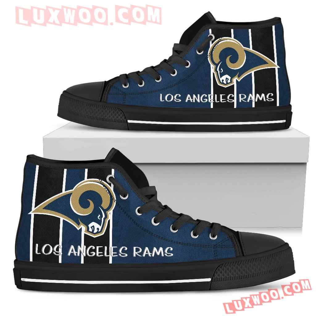 Steaky Trending Fashion Sporty Los Angeles Rams High Top Shoes