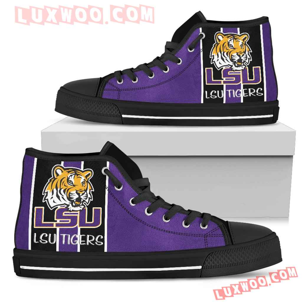 Steaky Trending Fashion Sporty Lsu Tigers High Top Shoes