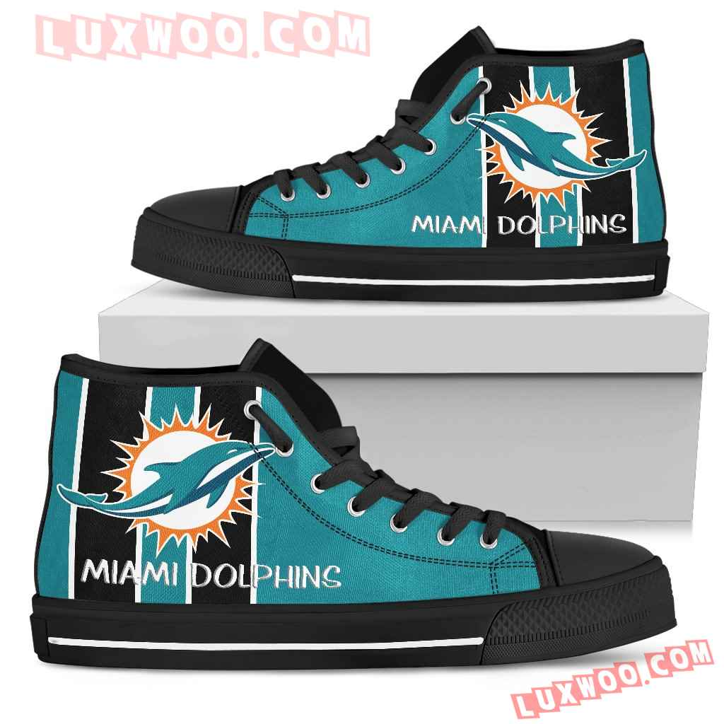Steaky Trending Fashion Sporty Miami Dolphins High Top Shoes