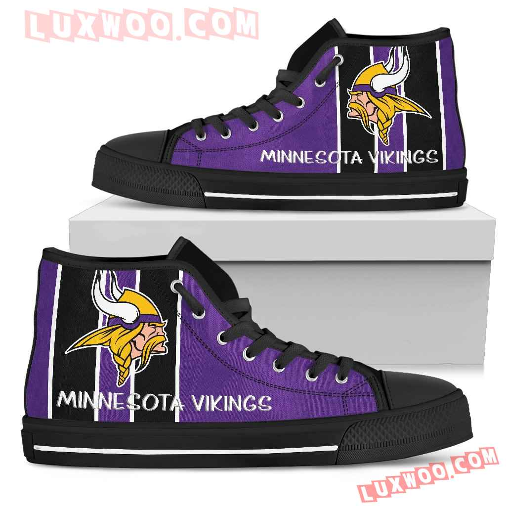 Steaky Trending Fashion Sporty Minnesota Vikings High Top Shoes