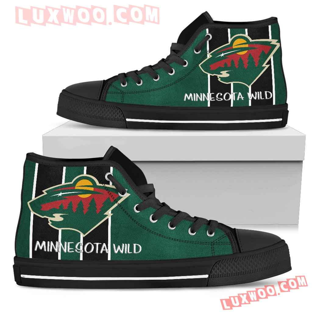 Steaky Trending Fashion Sporty Minnesota Wild High Top Shoes