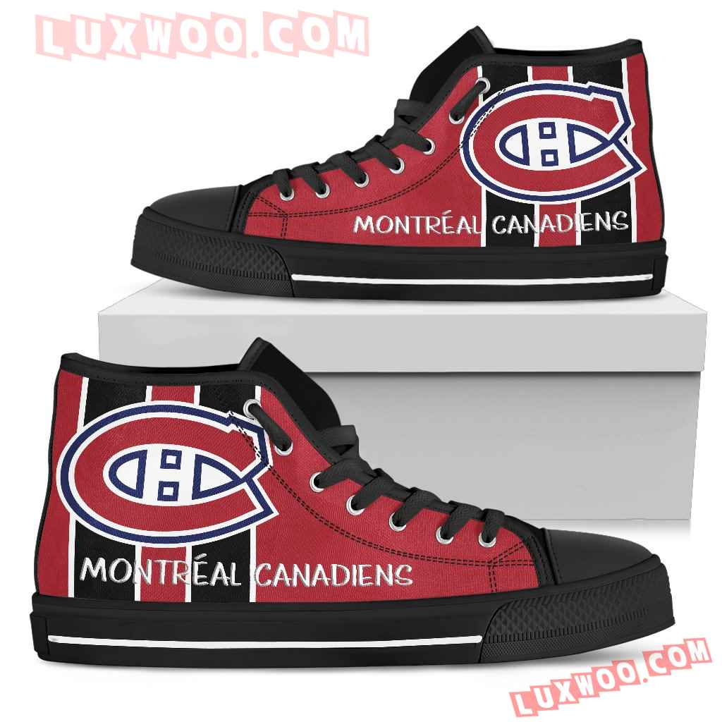 Steaky Trending Fashion Sporty Montreal Canadiens High Top Shoes