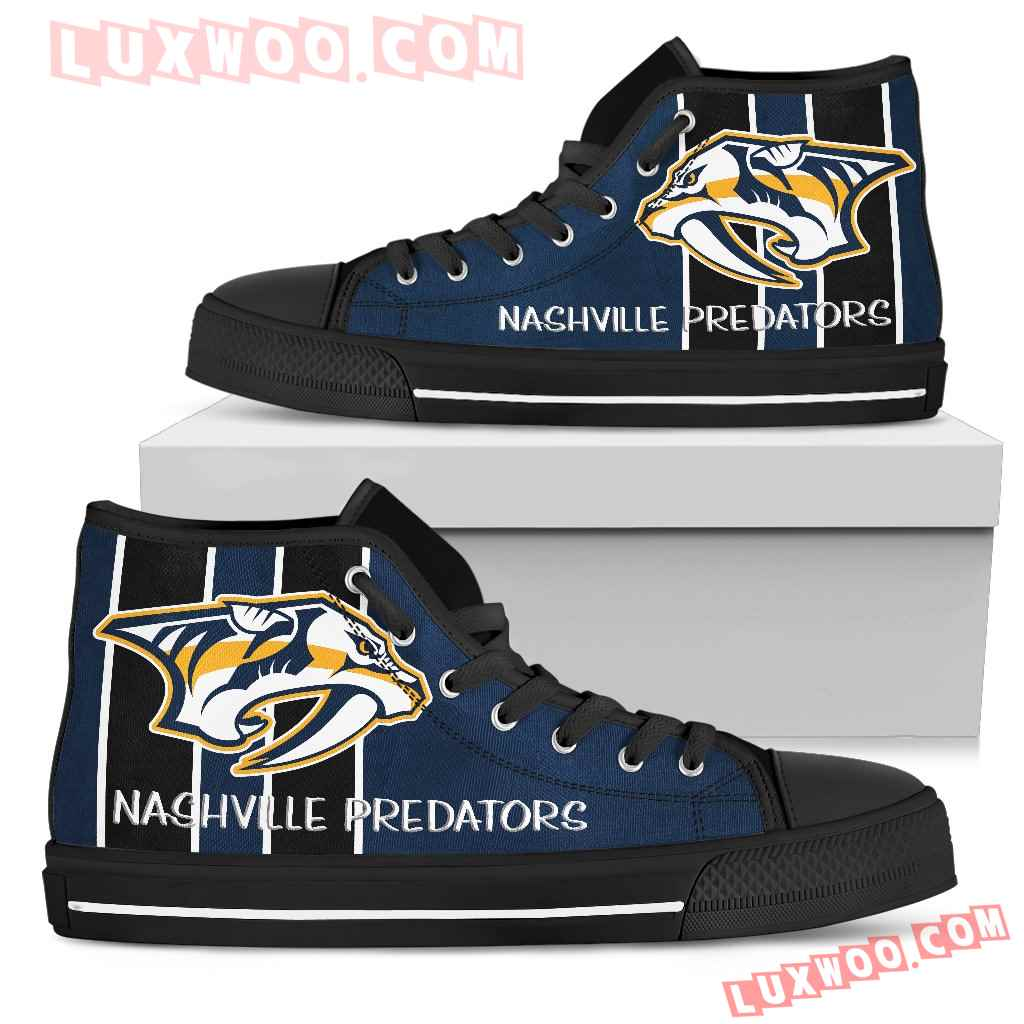 Steaky Trending Fashion Sporty Nashville Predators High Top Shoes