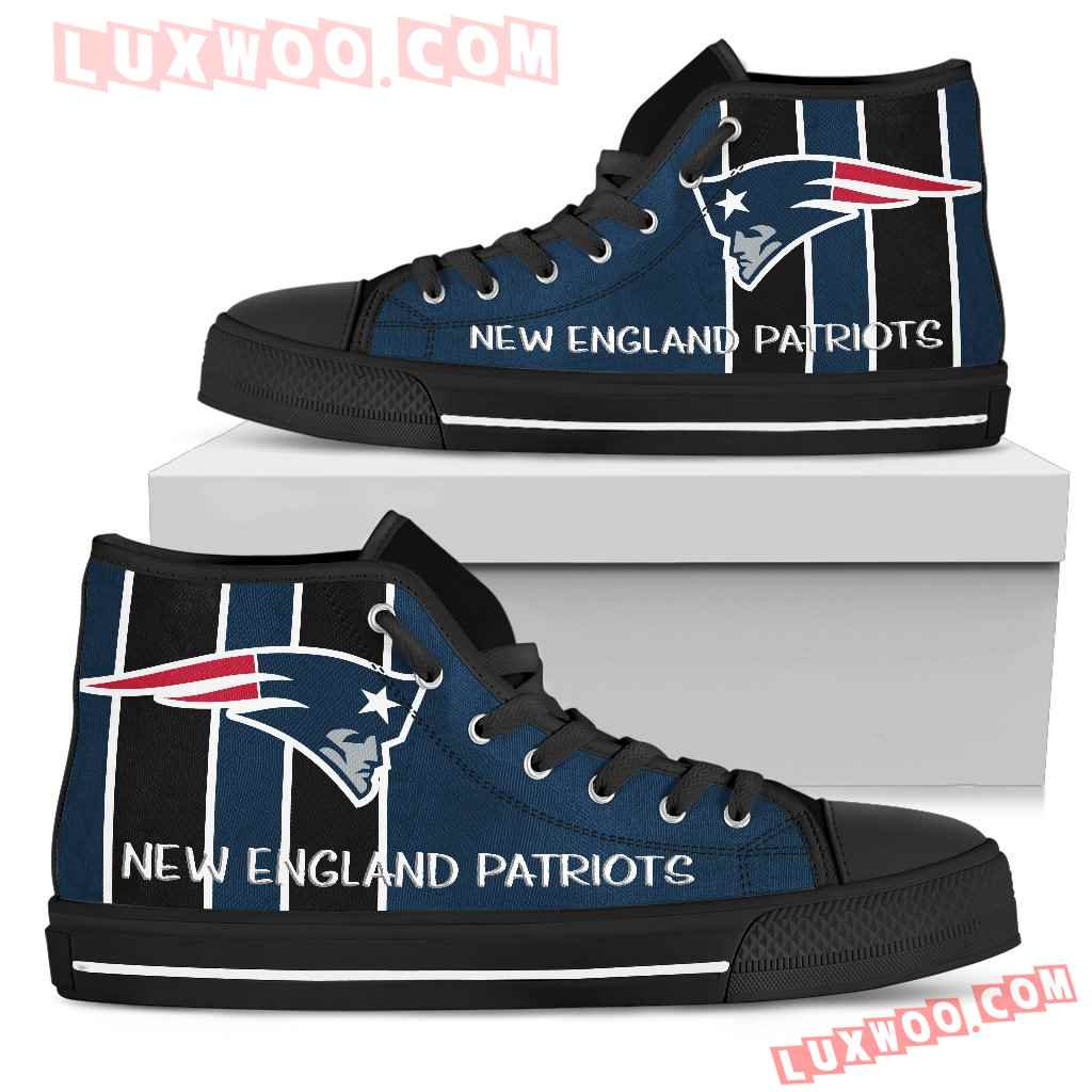 Steaky Trending Fashion Sporty New England Patriots High Top Shoes