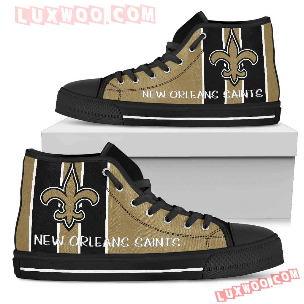 Steaky Trending Fashion Sporty New Orleans Saints High Top Shoes