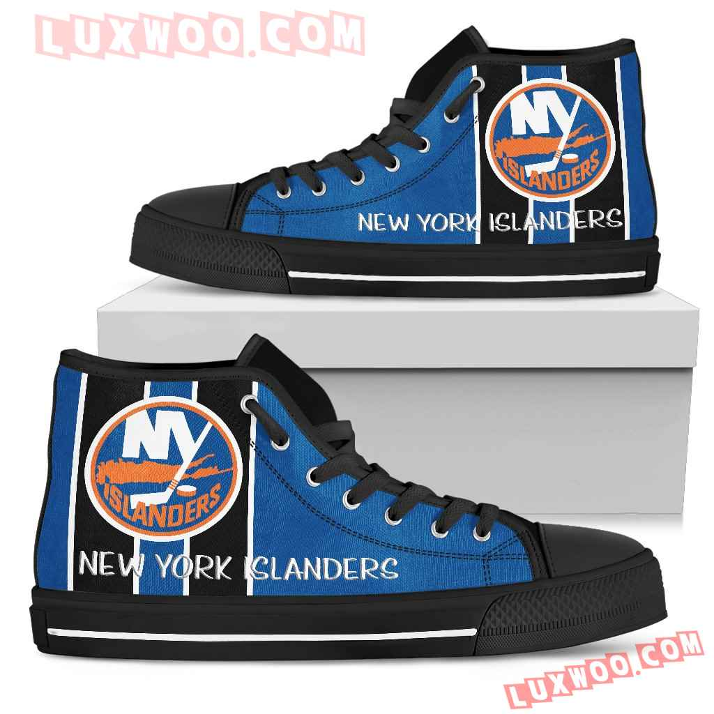 Steaky Trending Fashion Sporty New York Islanders High Top Shoes