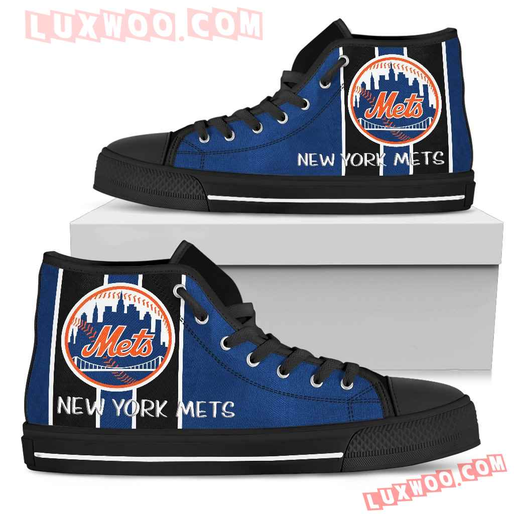 Steaky Trending Fashion Sporty New York Mets High Top Shoes