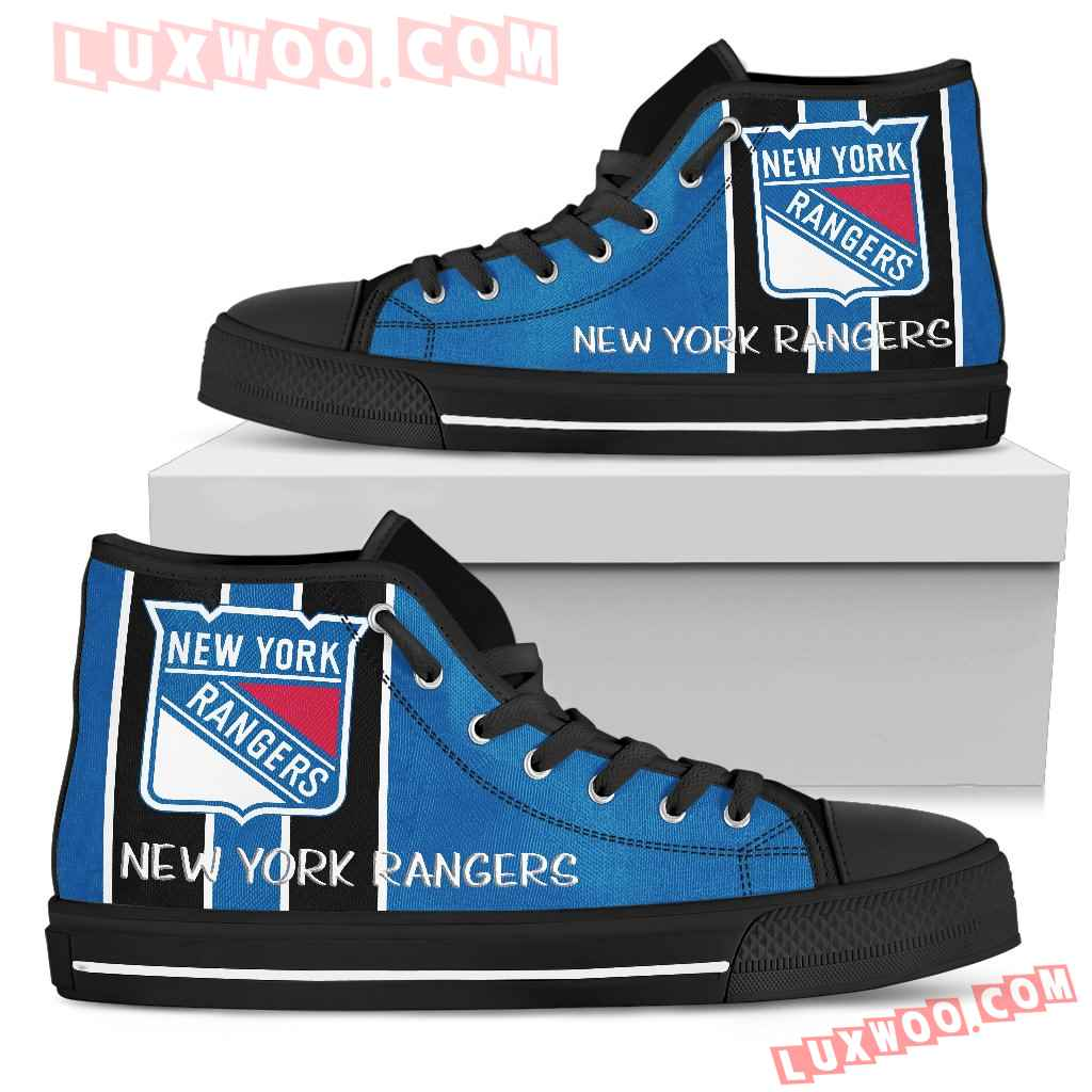 Steaky Trending Fashion Sporty New York Rangers High Top Shoes