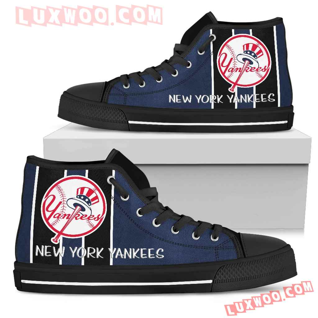 Steaky Trending Fashion Sporty New York Yankees High Top Shoes