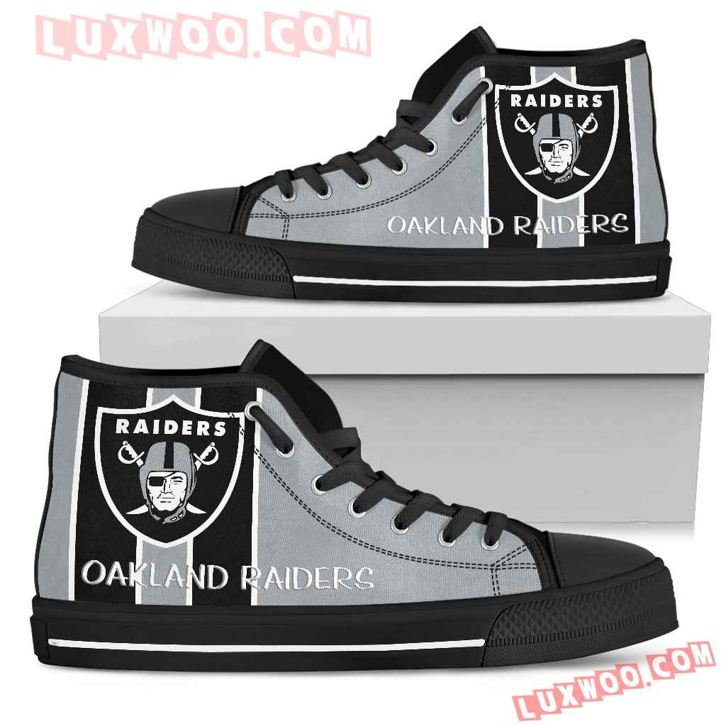 Steaky Trending Fashion Sporty Oakland Raiders High Top Shoes