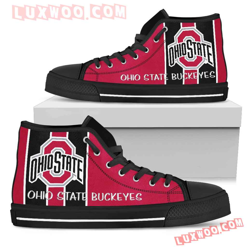 Steaky Trending Fashion Sporty Ohio State Buckeyes High Top Shoes
