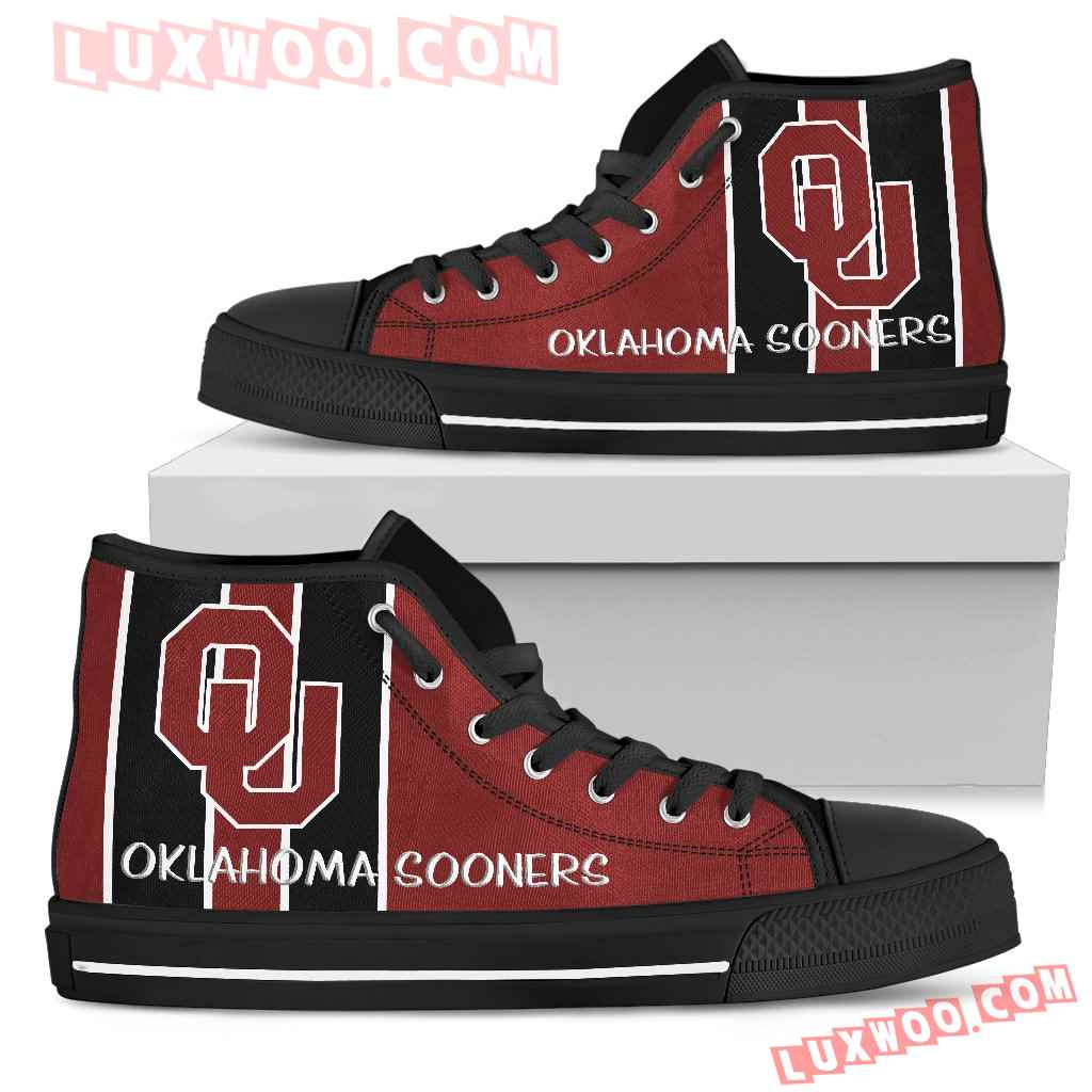 Steaky Trending Fashion Sporty Oklahoma Sooners High Top Shoes