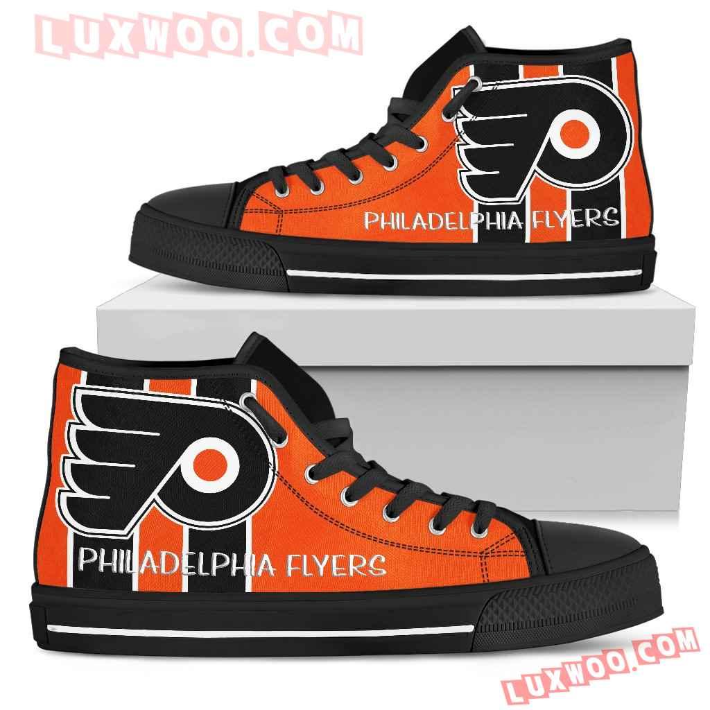 Steaky Trending Fashion Sporty Philadelphia Flyers High Top Shoes