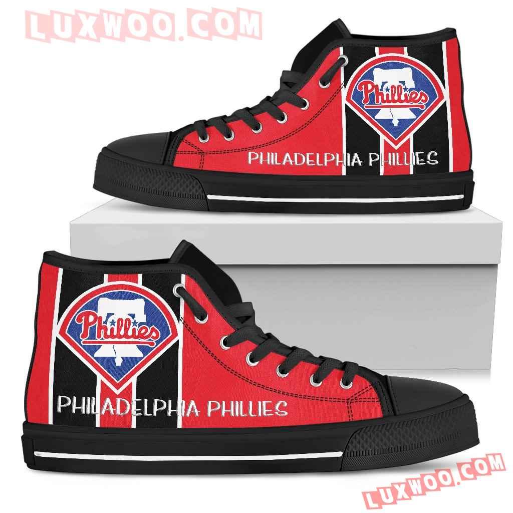 Steaky Trending Fashion Sporty Philadelphia Phillies High Top Shoes