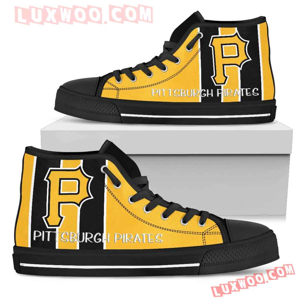 Steaky Trending Fashion Sporty Pittsburgh Pirates High Top Shoes
