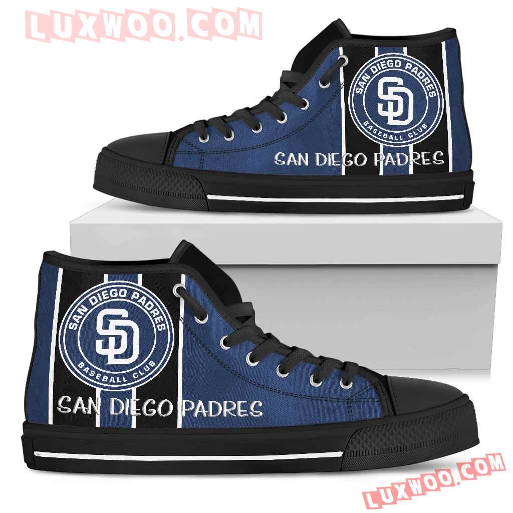 Steaky Trending Fashion Sporty San Diego Padres High Top Shoes