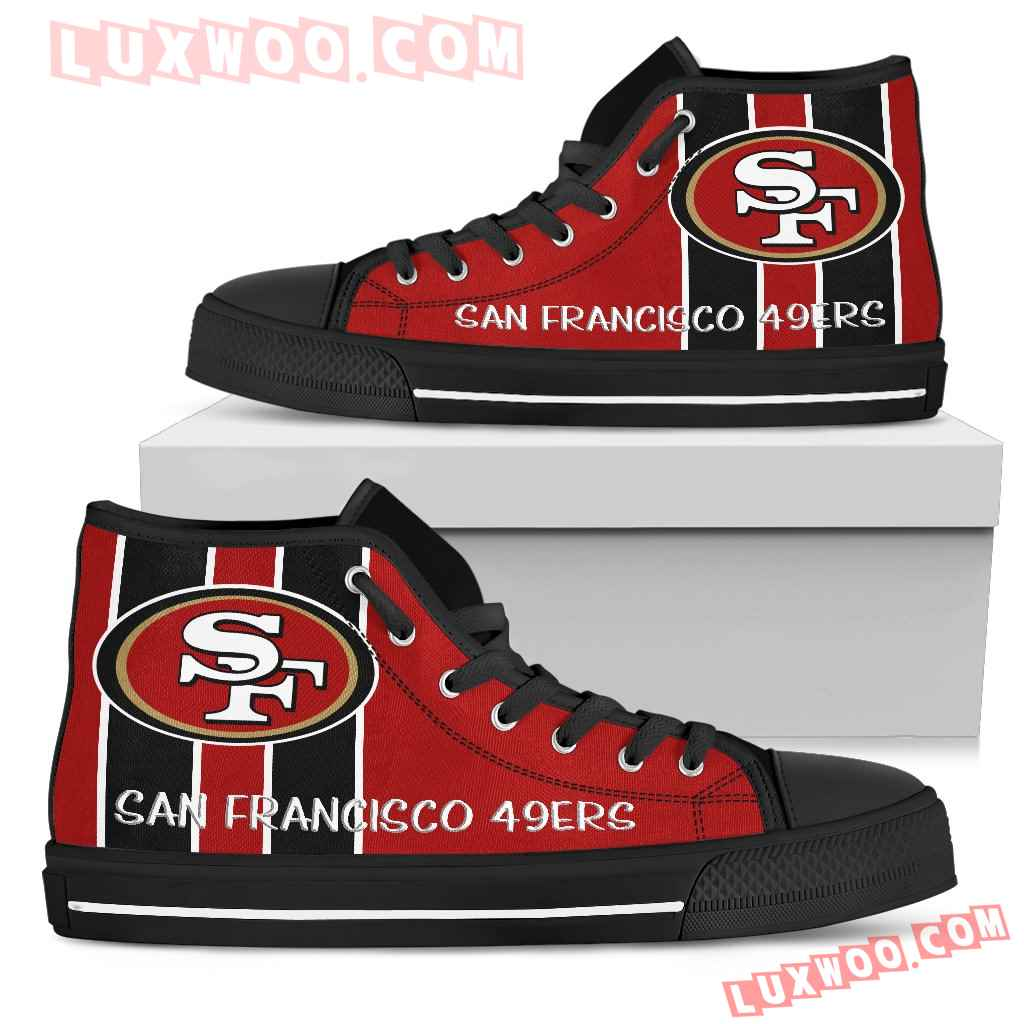 Steaky Trending Fashion Sporty San Francisco 49ers High Top Shoes