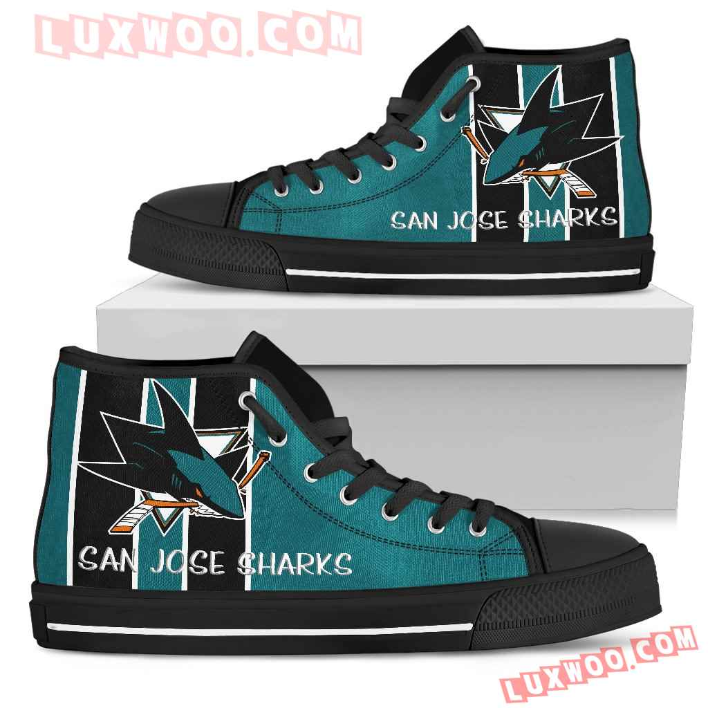 Steaky Trending Fashion Sporty San Jose Sharks High Top Shoes