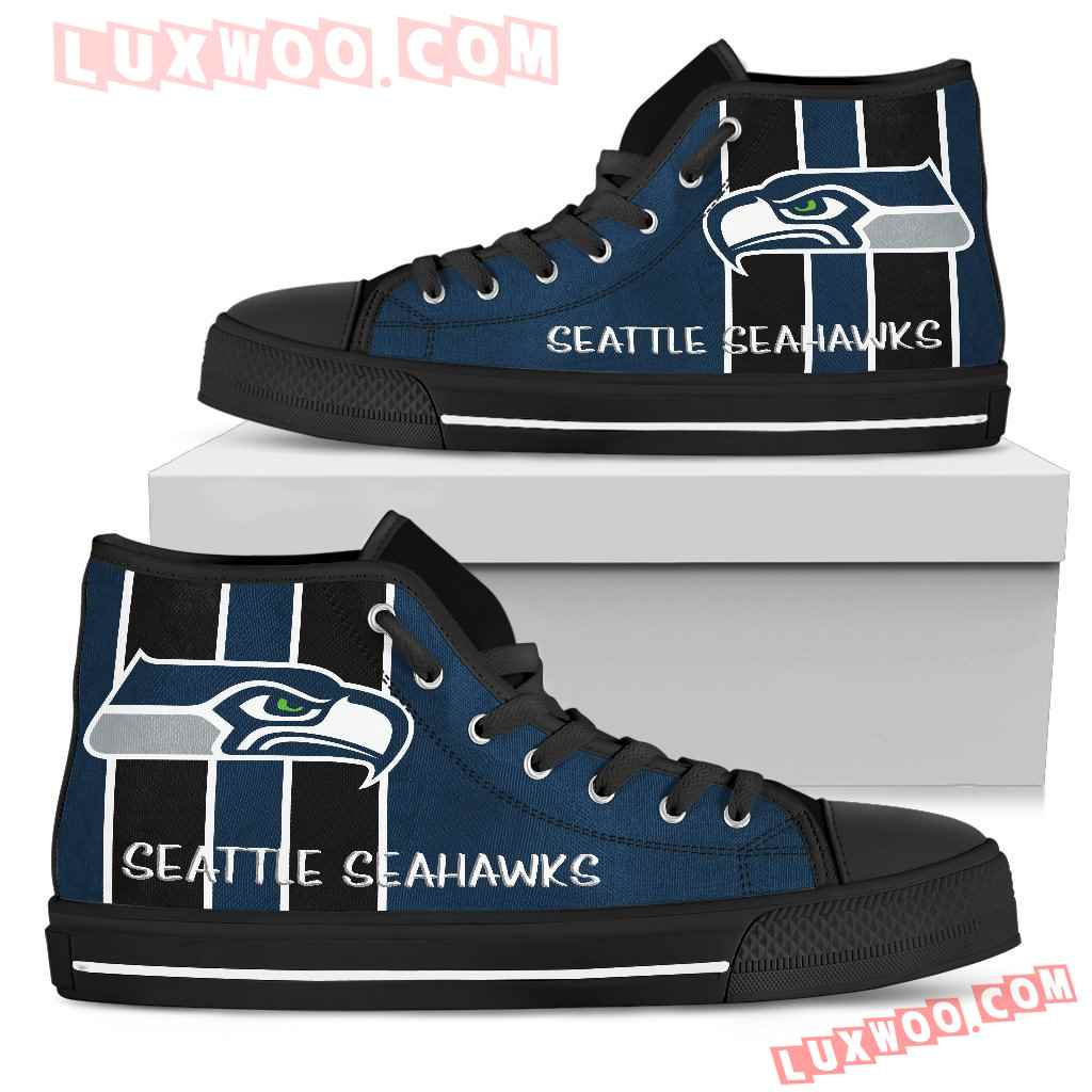 Steaky Trending Fashion Sporty Seattle Seahawks High Top Shoes
