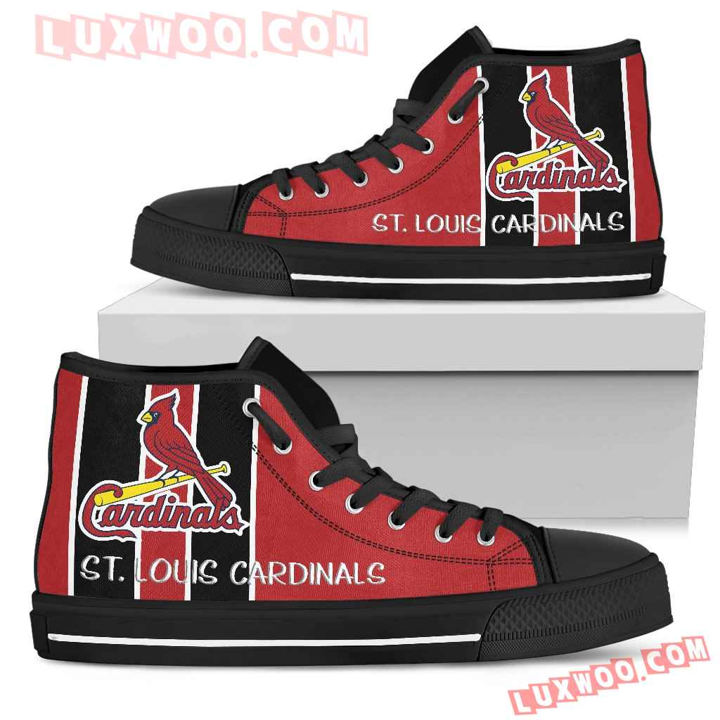 Steaky Trending Fashion Sporty St Louis Cardinals High Top Shoes